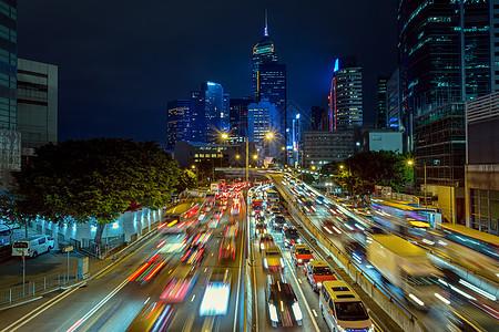 香港街头夜景图片