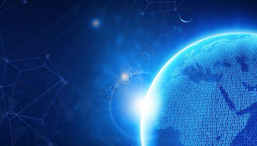 商务数据与世界地图图片