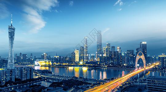 广州城市风光夜色图片