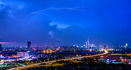 广州,城市风光、曼哈顿、夜色。图片