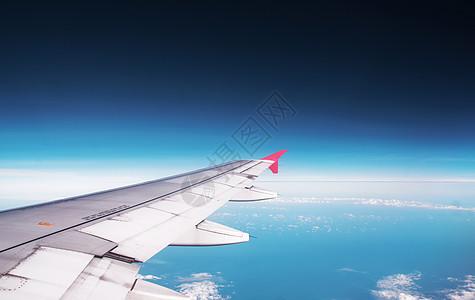 蓝天高空机翼图片