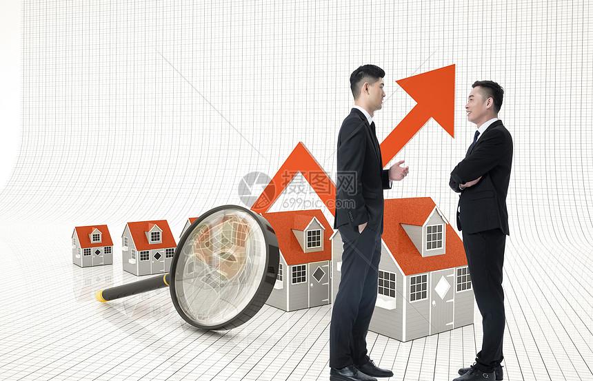 年轻专业绘制日益增长的房地产图图片