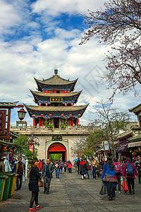 云南大理古城五华楼步行街图片