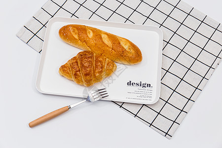 早餐健康饮食烘焙面包图片