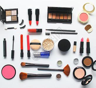 时尚美妆化妆品白底背景图图片