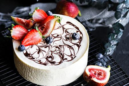 复古烘培芝士蛋糕图片