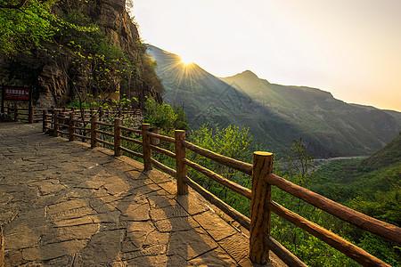 云台山日出美景图片