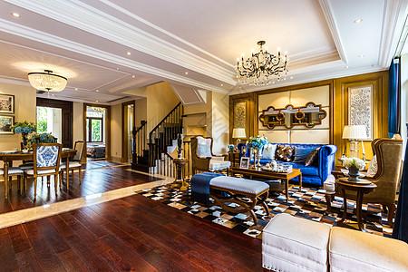 欧式古典风的大客厅图片