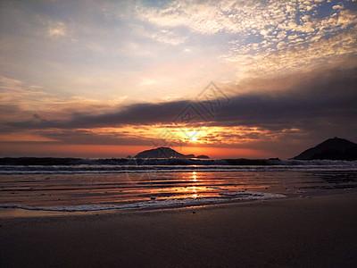 象山海边日落傍晚景色图片