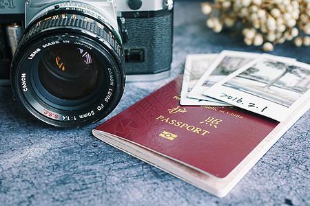 照相机护照出国游必备图片