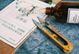 裁缝的工具及布料图片