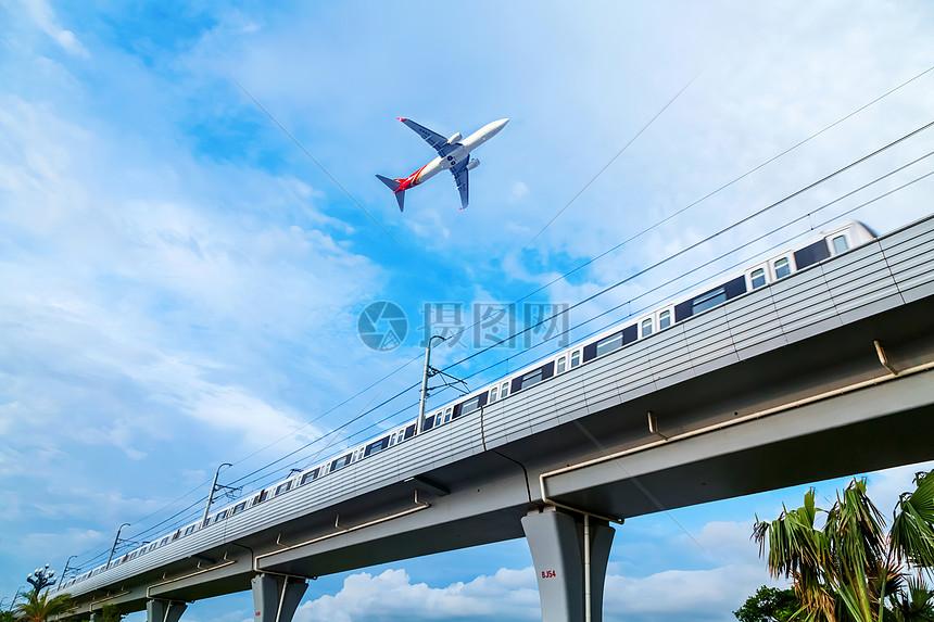 城市地铁及飞机交通系统图片