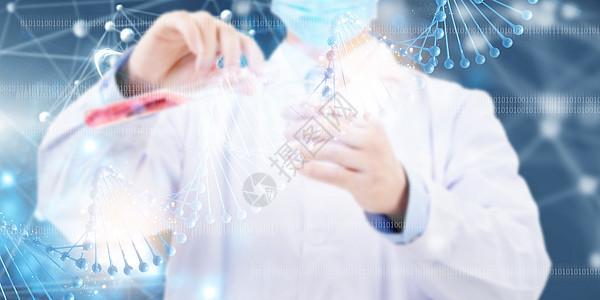 医生与分子结构图片