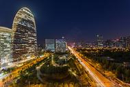 城市现代建筑夜景图片