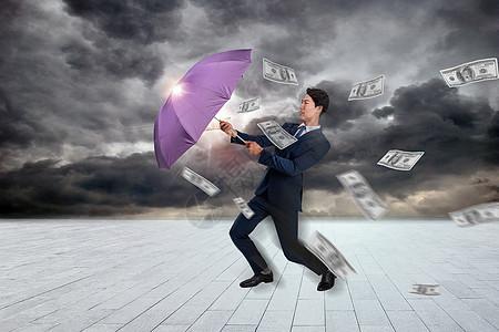 雨伞和美元图片