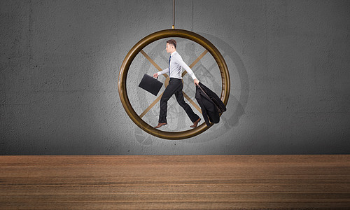 创意商务时间赛跑图片
