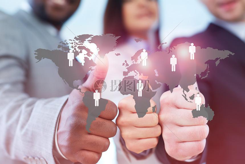 全球业务合作人员图片