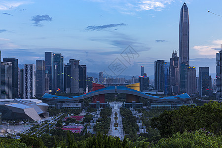 日落深圳市民中心图片