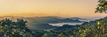 俯瞰山岭图片