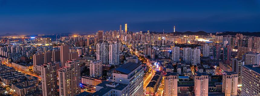 大连全景城市建筑风光图片