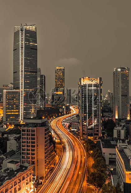 城市道路车轨曲线图片
