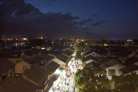 中国元素大理古镇夜景图片