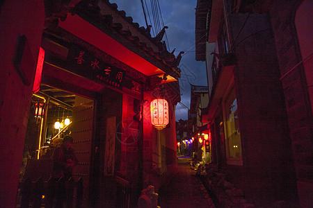 中国元素丽江古镇夜景图片