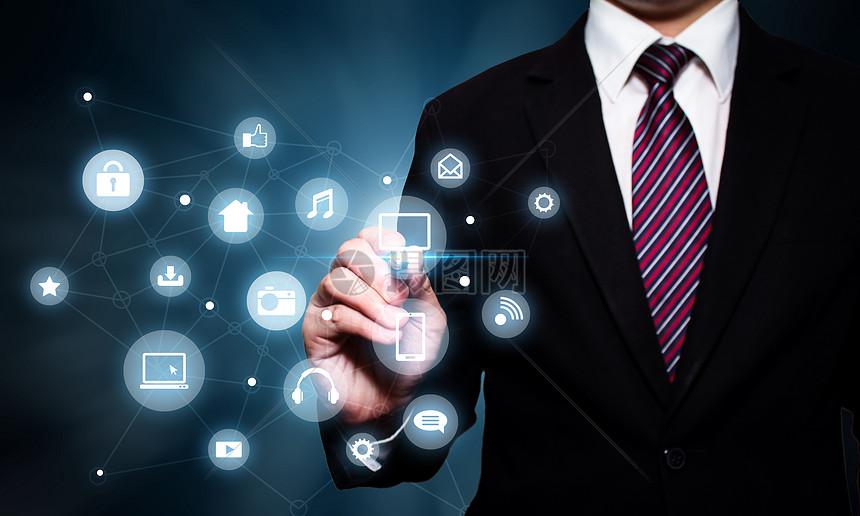 现代化商务信息科技图片