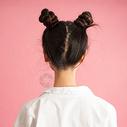 女孩发型特写图片