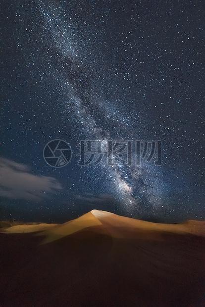 鸣沙山星空图片