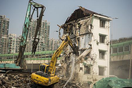 城市发展时拆除房子图片