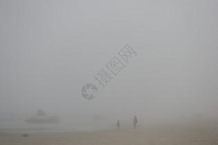 环境污染造成空气雾霾图片