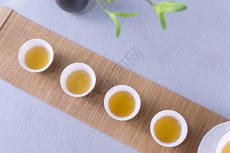 简约平铺茶碗图片
