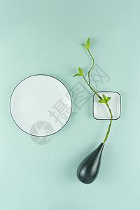 餐具创意摆放平铺图片
