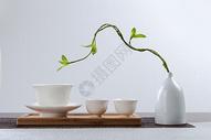 白色背景茶杯茶碗图片
