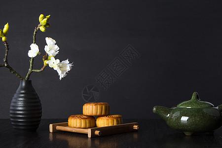 月饼与茶文化图片