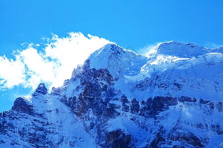 雪山冰川近景图片
