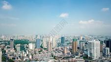 航拍宁波的城市建筑图片