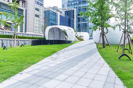 上海商场公园园路图片