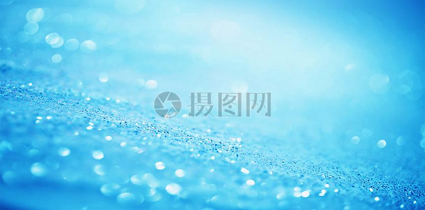 蓝色发光大数据粒子抽象背景图片