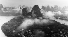 烟雨漓江图片