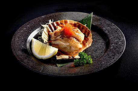 扇贝日式料理图片