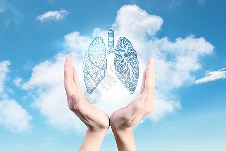 净化空气保护肺图片
