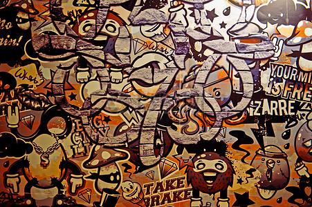 墙面涂鸦图片