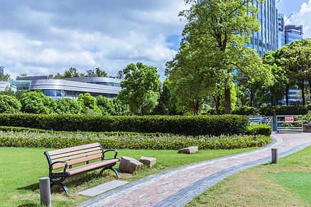 上海公园设施椅子园路图片
