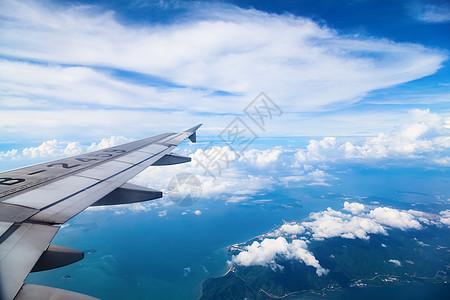 机翼下的风景图片