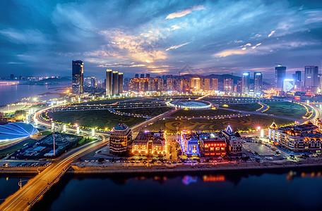 大连星海广场夜景图片