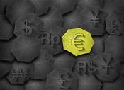 伞上的货币符号图片