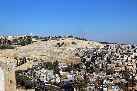 耶路撒冷橄榄山图片