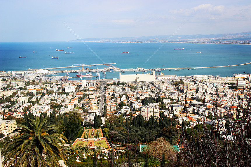 以色列海法巴哈伊空中花园图片